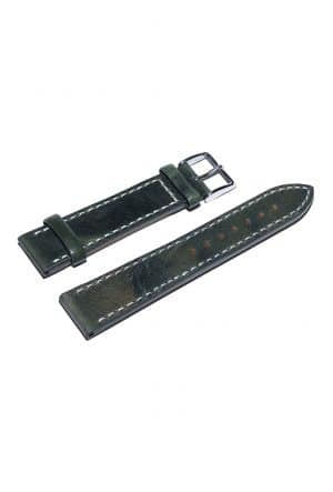 Darkgreen calfskin watch strap