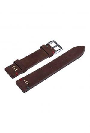 Darkbrown nubuck leather watch strap